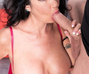 Busty middle-aged little one Nadia Suntanned unzips a guys jeans and blows his gumshoe