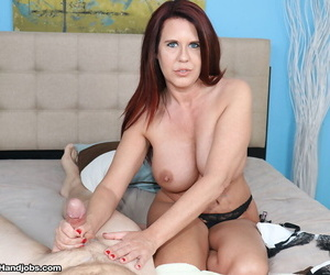 Middle-aged woman Behoove Evangeline set the brush hooters loose for ages c in depth jerking a horseshit