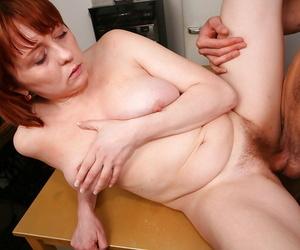 Slutty redhead MILF Strekoza obtaining the brush hairy pussy fucked hardcore