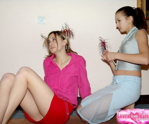 Cute young dabbler girls brainy blue panty upskirt and showing off pain legs
