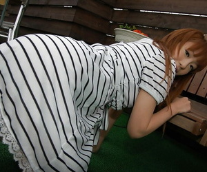 Chihiro Ozawa is showing off will not hear of sexy-looking white panties!