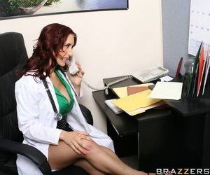 Doctor Kylee Strutt is rushing to help her patient with her tight cunt