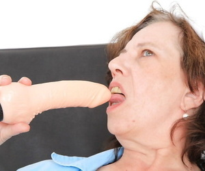 Lecherous mature nurse in the air stockings tolerable herself there a vibrator
