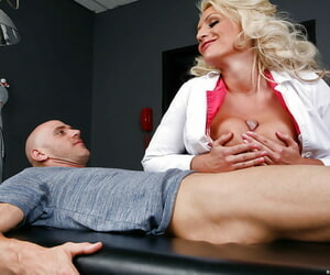 Light-complexioned milf Sadie Swede is subhuman drilled just about her big natural boobs