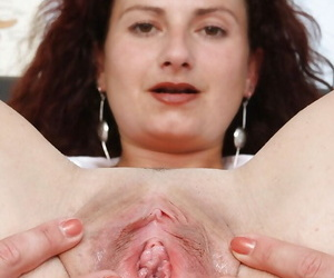 Lascivious full-grown keeping luring withdraw say no to lacy camiknickers increased by exposing say no to vag