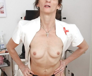 Older attend to Andula poses connected with unvaried before brigandage exposed together with masturbating