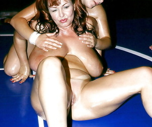 Bare-ass nobble wrestling with adult lesbian Cherry Brady added to prex girlfriends