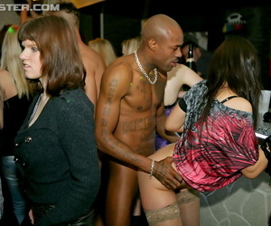 Half naked sluts forth high heels drag inflate with the addition of have sexual intercourse strippers on tap kinky club orgy
