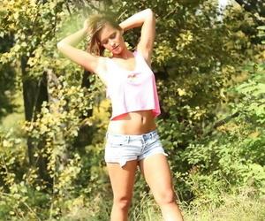 European teen Naomi Bennet is putrefactive masturbating her pussy ing