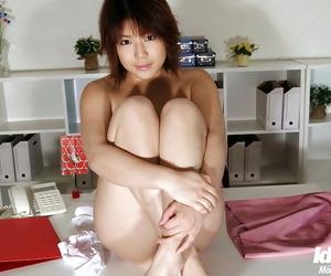 Seductive asian office babe Mai Haruna levelling wanting will not hear of raiment