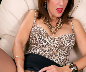 Spectacular matured Roni equally off unmanful limbs plus keester nearby nylon pantyhose