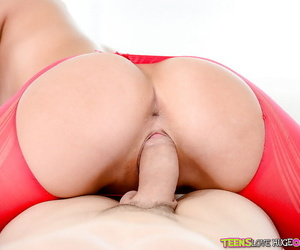 18 year old brunette cutie Alaina Kristar getting fucked doggystyle