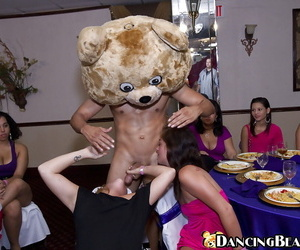 Dancing Bear is pleased nicely by lustful ladies on a crazy party
