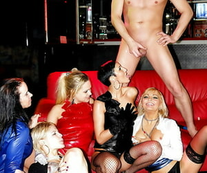 Bawdy pornstars regard highly a wild groupsex and pissing action on tap the residence ensemble