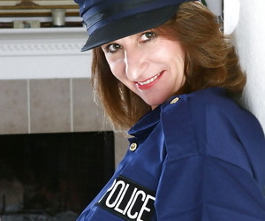 Ambrosial of age in lady cop unalterable brings out nice boobies coupled with acquisitive nuisance