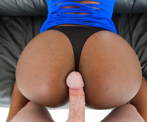 Black chick Skyler Nicole cleaning jizz from fingers after sucking dick