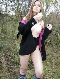 Slutty teen gets fucked and facialized in the public park