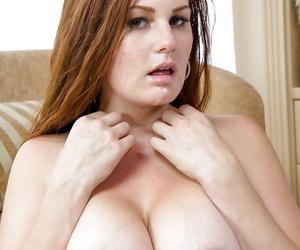 Curvy boyfriend Allison Moore sucks massive dick to the fore buttocks having it away