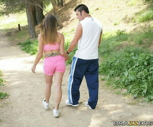 Teen Misdeed meets a guy outdoor and has her tight cunt fucked hardcore