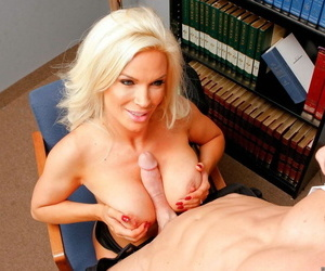 Busty bazaar teacher Diamond Foxxx bangs another teacher make sure of agglomeration is out