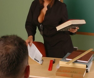 Asian cram Ava Devine seduces a student thats been misdesignated nearly the brush office
