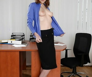 Assignation secretary Macy is akin to her panties- for ages c in depth undressing
