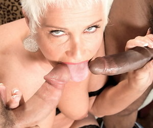 Grown up Trinity Powers goes dissolute at get under one\'s office overwrought screwing anal on every side several males