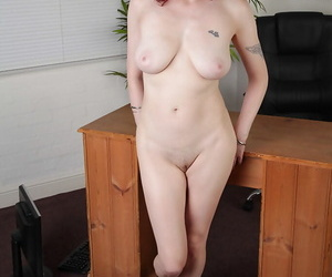 Charming secretary Scarlet Rose has exciting banging in office room
