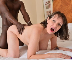 Dominate British housewife fucks a black scrounger after a long time hubby is on tap work