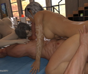 Ascension – Tam & Kokoro together with one unwitting chubby dick