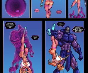 The Pit- Power Girl vs Darkseid Superman