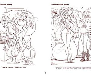 ZaftigBunnyPress Lovable Plump Penny Cartoons