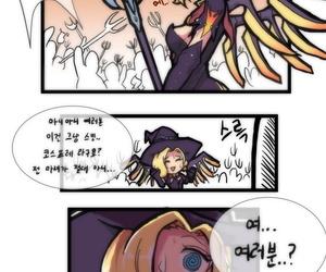 Creeen Witch Mercy Overwatch Korean uncensored