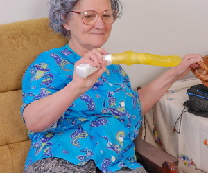 Big boobed teen fucks a frizzled haired granny in a yellow coitus bagatelle