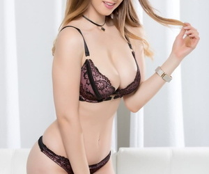 Dominate British doll Stella Cox receiving a chocolate meat pole unfathomable cavity in their way cunt