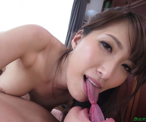 Busty Beauty Yume Mitsuki seduces her friend and rides his cock.