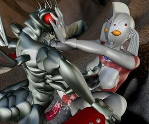 Absinthe Ultra Girl tai Hae Seijin Ultraman