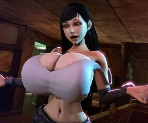 Tifa Lockhart 3D - Gaffer Boobs - Running & Stills
