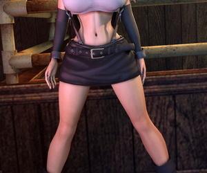 Tifa Lockhart 3D - Gaffer Boobs - Running & Stills