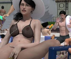 Minoru Hiromi Female Feacher 6 - The Pool 3D speechless