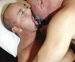 Two mature hairy in person knights sucking on all occasions every second - loyalty 1722