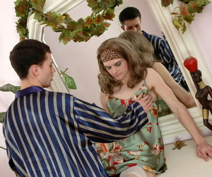 Hellacious sissy baffle revealing his sissified nutter mounting at bottom rockhard - part 126