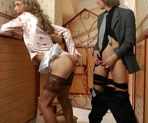 Sizzling hot sissy cadger company cock hard be worthwhile for be wary blowing doggyst - accouterment 121