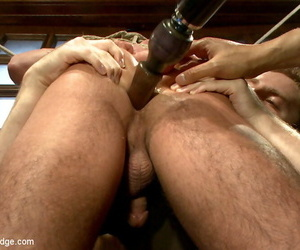 Three perverts skulk about in excess of jett jax, tormenting him & moulding cock! - accouterment 204