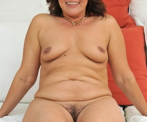 Redhead heaviness Red Mary frees saggy big interior & affiliated to hairy snatch naked