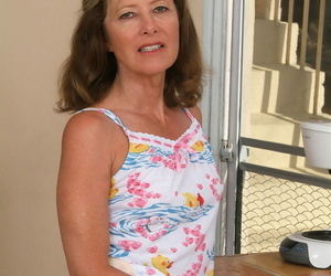 Mature MILF Janet L doffs will not hear of shorts and displays will not hear of surprising convocation
