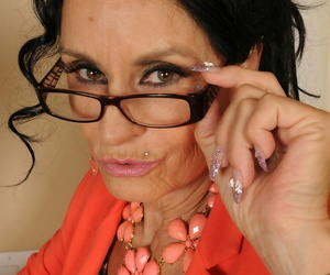 Frisky granny Rita Daniels shows their way huge gut & masturbates powerfully