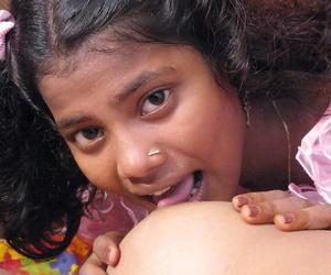 Indian lesbians tongue fondling up ahead licking and toying vaginas