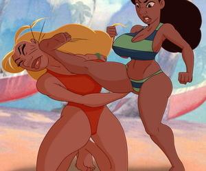 Nani vs Lifeguard Catfight