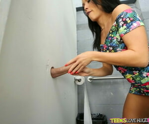 Spectacular toddler got fucked in rub-down the toilet - part 2483